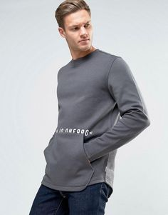 Get this Jack & Jones's hooded sweatshirt now! Click for more details. Worldwide shipping. Jack & Jones Core Sweatshirt with Front Pouch Pocket - Grey: Sweatshirt by Jack Jones, Soft-touch sweat, Crew neck, Front pouch pocket, Regular fit - true to size, Machine wash, 85% Polyester, 15% Cotton, Our model wears a size Medium and is 185.5cm/6'1 tall. Founded in 1989, Jack & Jones is a Danish brand that offers cool, relaxed designs that express a strong visual style through their diffusion…