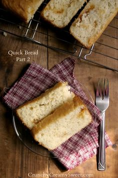 Apricot Preserves Swirl Quick Bread - Quick Bread Part 2 {flat top, regular loaf}  by CrunchyCreamySweet.com