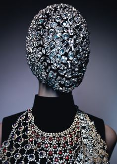 """Along with the super large necklace and then the jeweled face covering, I would definitely say """"this is very thought provoking"""".  Tush Winter 12.13 