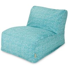 Majestic Home Goods 85907220393 Teal Navajo Bean Bag Chair Lounger