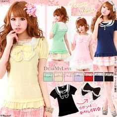 Rakuten: 【SS】●[【M~LL】princess sailor collar cut-and-sew with hemming Lace ribbon- Shopping Japanese products from Japan