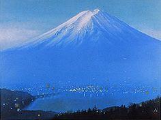 2006 - 'Mount Fuji at Dawn' lithograph by Nori SHIMIZU (b. Tokyo 1962.