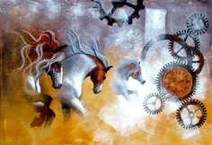 Buy Chasing The Time 05 artwork number a famous painting by an Indian Artist Mithu Biswas. Indian Art Ideas offer contemporary and modern art at reasonable price. Drawing Artist, Artist Painting, Indian Paintings, Horse Paintings, Modern Art, Contemporary Art, Horse Wall Art, Indian Artist, Art Activities