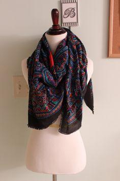 Vintage Gim Renoir Scarf #Vintage #Summer scarf #Italian designer