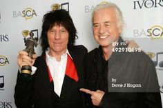 MAGE MUSIC: On This Day 22 May 2014 Jimmy Page and Jeff Beck at Beck's Ivor Novello Award  Photo: Dave J Hogan