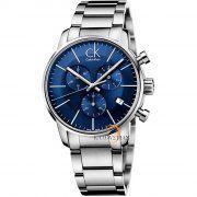 Calvin Klein Men's Chronograph Quartz Watch with Stainless Steel Bracelet - Seiko, Bulova, Cool Watches, Rolex Watches, Watches For Men, Wrist Watches, G Shock, Patek Philippe, Style Androgyne
