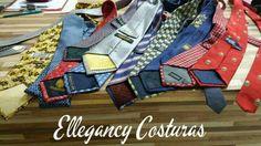 Afinar gravatas- Deixar gravatas modelo slim.  Traga suas gravatas para afinar aqui na Ellegancy Costuras   Acesse nosso site www.elcosturas.com.br    e saiba mais  O trabalho de ajuste de gravatas é todo feito à mão.