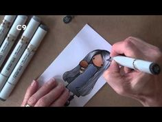 Copic In The Craft Room: Coloring Black - YouTube