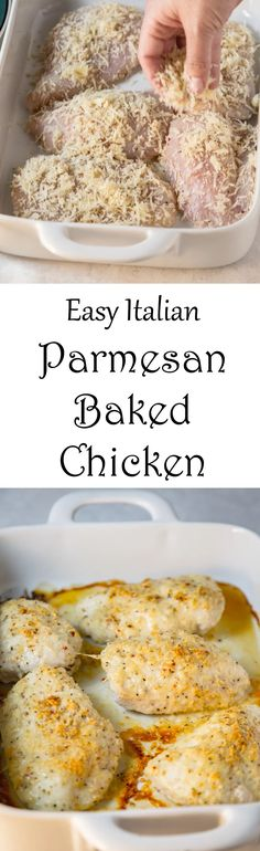 Easy Italian Parmesan Baked Chicken for a lightened up version of breaded chicken
