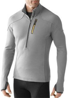 SmartWool TML Mid Half-Zip Top – Men's « Clothing Impulse ~ I like the thumb hole so the sleeve can come over the hand. I woukd definitely use something like this for snowboarding.