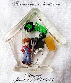 Resin farm boy magnet
