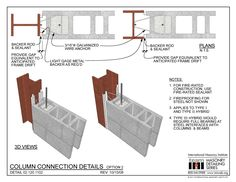 02.120.1102: Column Connection Details - Option 2 | International Masonry Institute