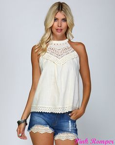 Bless Your Heart Lace Halter Top