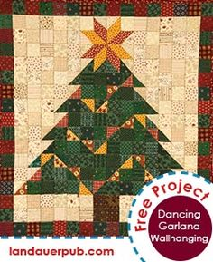 Free Quilt Pattern: An easy, fun tree to deck your halls!