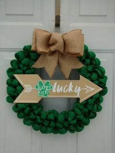 St Patrick's day wreath St Patrick's day by ChloesCraftCloset