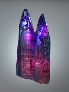 Tanzanite.  Merelani Mine, Arusha, Tanzania. Definitely the prettiest piece of Tanzanite I've seen!