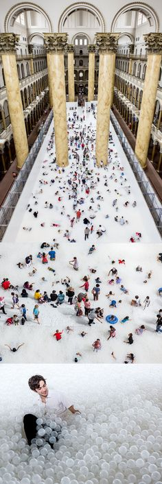 A 10,000 Square Foot Ball Pit Situated Within a National Museum Lets Visitors Experience the Beach Indoors  http://www.thisiscolossal.com/2015/07/beach-national-museum/