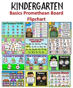 A fliphart covering the basic skills that are taught in kindergarten