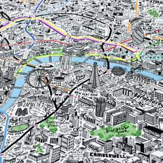 Hand Drawn Map of London Art Print | Art Prints & T-shirts from Evermade