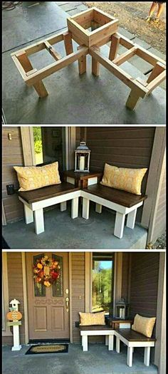 12 Creative DIY Corner Bench With Built-in Table Decor For Small Spaces – Runn. - 12 Creative DIY Corner Bench With Built-in Table Decor For Small Spaces – RunningAble Home Ideas - Decorating Small Spaces, Porch Decorating, Budget Decorating, Holiday Decorating, Decor For Small Spaces, Cheap Decorating Ideas, Decorating Websites, Small Rooms, Sweet Home