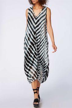 Sahara Shibori Georgette Bubble Dress