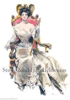 A Veritable Queen (1906) ~ Howard Chandler Christy ~Counted Cross Stitch Pattern #StoneyKnobFarmHeirlooms #CountedCrossStitch