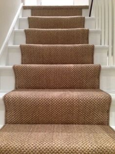 Client: Private Residence In West London. Brief: To supply & install sisal carpet to stairs, hallway & landings. Hallway Carpet, Carpet Stairs, Country Hallway, Cottage Stairs, Staircase Runner, Stair Runners, Decatur House, Hallway Colours, Hall Flooring