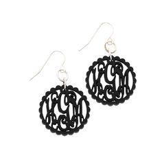 SCALLOP ACRYLIC FRENCH WIRE EARRINGS - SILVER