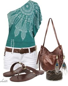 """""""Feathers for Summer"""" by christa72 on Polyvore"""