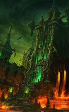 ArtStation - lava castle, Summer Kim