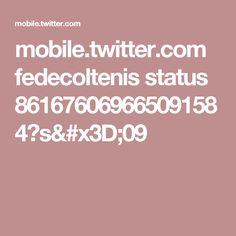 mobile.twitter.com fedecoltenis status 861676069665091584?s=09