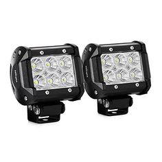 Nilight Led Light Bar 2PCS 18w 4 Flood Driving Fog Light Off Road Lights Boat Lights driving lights Led Work Light SUV Jeep Lamp2 years Warranty >>> Click image for more details.Note:It is affiliate link to Amazon.