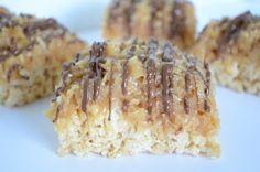 Samoa Rice Krispy Treats