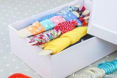 Le rangement de mon atelier couture - Les Lubies de Louise Coin Couture, Blog Couture, Toddler Bed, Diy, Furniture, Craft, Home Decor, Cutting Tables, Arredamento