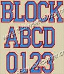 """College Block - 8 Claws and a Paw - 2"""", 3"""", 4"""" (All have column fill with satin outline)"""