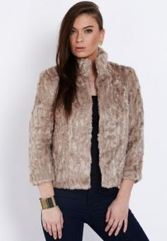 Ginger  short fur jacket, available via www.namshi.com (a favourite repin of VIP Fashion Australia www.vipfashionaustralia.com - Specialising in unique fashion, exclusive fashion, online shopping sites for clothes, online shopping of clothes, international clothing store, international clothes shop, cute dresses for cheap, trendy clothing stores, luxury purses )