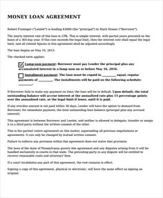 Loan Agreements Between Individuals Legal Agreement Template  Template  Pinterest  Marriage .