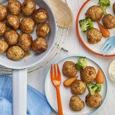 Chicken Balls, Chicken Rice, Baby Food Recipes, Chicken Recipes, Dinner Recipes, Dinner Ideas, Dinners For Kids, Kids Meals, Annabel Karmel Recipes