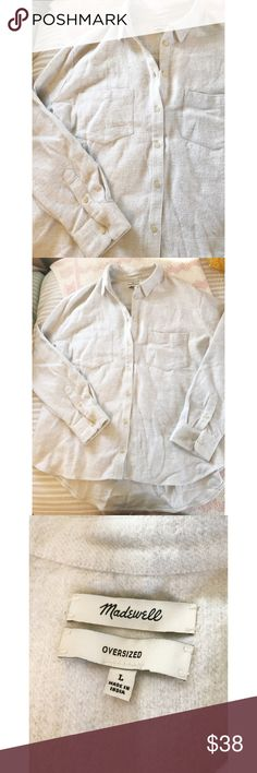 Madewell Oversized Button Down Mint condition! Worn twice! Madewell Tops Button Down Shirts