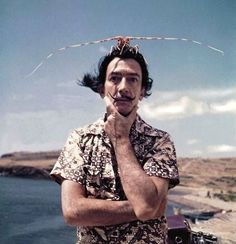 Salvador Dali was at once an artist and a work of art himself -- these thirty-four delightful photos of the legendary surrealist prove it! Famous Artist Names, Famous Artists For Kids, Famous Artists Paintings, Oil Paintings, Alberto Giacometti, Man Ray, L'art Salvador Dali, Jean Arp, Dorothy Parker