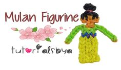 nice Disney Princess Series Mulan Rainbow Loom Figurine Tutorial- ORIGINAL