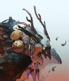 Creature Concept Art, Creature Design, Mythological Creatures, Mythical Creatures, Character Illustration, Illustration Art, Character Art, Character Design, Fantasy Monster
