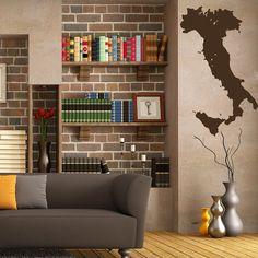 Mappa di decalcomanie parete di Italia continenti paesi mondo mappa Vinyl Decal Sticker Home Decor vivono camera ufficio Stady murales ML167 bambini