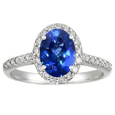 Sapphire Fancy Halo Diamond Ring in 18K White Gold, 8x6mm Oval Blue Sapphire on brilliantearth.com - Okay, there is NO way in creation that I would spend this much money on a ring, but it's so pretty! And all their products are ethically manufactured with recycled and fair-trade materials!