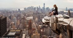 25-year-old daredevil photographer Lucinda Grange will scale the world's most famous buildings to snap these chilling shots, even if it means escaping security guards. (Lucinda Grange / Barcroft USA)