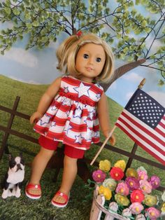 "American Girl doll clothes 4th of July outfit for American Girl doll or similar 18"" doll clothes"