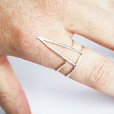 Visibly Interesting: Stefanie Sheehan hand constructed and hammered spike ring in Sterling Silver