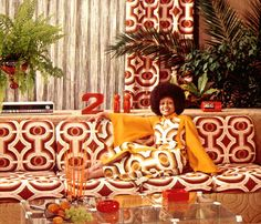 1970s Perhaps if your house is decorated like this, you need to camouflage yourself so nobody can identify you: