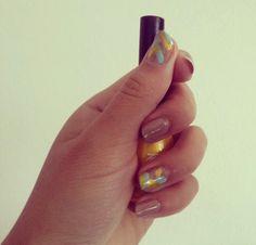 DIY Funny R • E • D Nails #fishtail #gosh #essence #koh