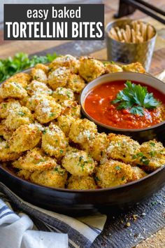 CHEESE TORTELLINI PARTY SNACKS are one of the best finger food ideas for game day movie nights and festive parties. These scrumptious horderves are easy to make and serve. Include these baked tortellini bites among this year's holiday appetizers. Game Day Appetizers, Finger Food Appetizers, Finger Foods For Party, Easy Finger Food, Best Party Appetizers, Finger Foods For Christmas, Christmas Party Appetizers, Finger Food Recipes, Appetizer Ideas